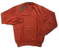 1,000$ Loro Piana Rust Cashmere Light Sweater Size Medium, EU 50 Made in Italy