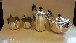 Collectable VINTAGE Antique Art Deco 4PC Epns silver plated tea set makers LR S
