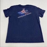 Vineyard Vines T Shirt Men's Large Short Sleeve Navy Chest Pocket 100% Cotton