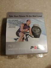 Polar F6 Black Coal Heart Rate Monitor Mens Watch F6BLK-M