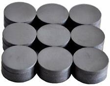 Round Ceramic Industrial Ferrite Magnets For Hobbiescrafts 18x4mm 27pcs Black
