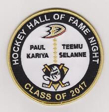 Anaheim Ducks Teemu Selanne And Paul Kariya  Hockey Hall Of Fame Patch Rare