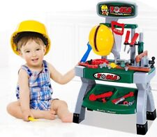 Children Work Bench Kids Play Set With 45+ Tools Diy Tool Kit Construction Toy