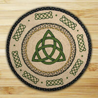"""Irish CELTIC KNOT 100% Natural Braided Jute Rug, 27"""" Round, Capitol Earth Rugs"""