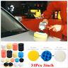 31Pcs Sponge Polishing Waxing Buffing Pads Kit Compound Car SUV +  Drill Adapter