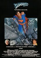 SUPERMAN The Movie Classic 70's Vintage Movie Poster - Wall Film Art Print