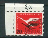 BRD Mi-Nr. 208 Ecke 1 - Eckrand - gestempelt