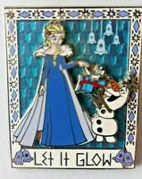 Disney Pin Frozen Elsa and Olaf 3D Let It Glow Pin. No Card