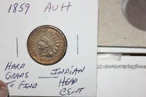 1859   AU++   INDIAN HEAD CENT