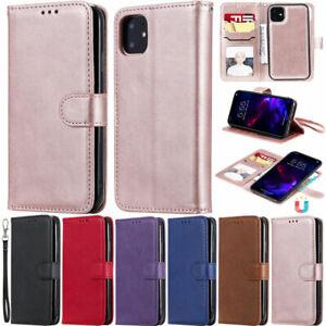 For iPhone 12 Pro 11 XR XS Max 7 8 Plus SE2 Retro Wallet Leather Flip Cover Case