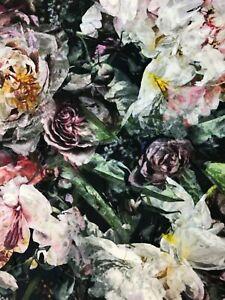 Designers Guild 'Fleur De Nuit' velvet fabric 80x134cm