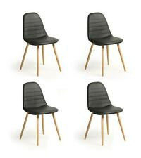 Set of 4 Charles Eames Inspired Retro DSW Eiffel Dining Chairs in 5 Colours