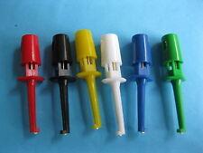 60 Grabber Test Probe Single Hook Clip 6 color Small