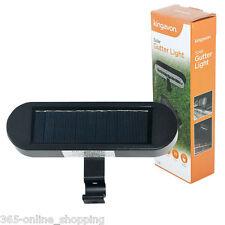 SOLAR POWER POWERED DOOR FENCE WALL GUTTER LIGHTS 6 LED OUTDOOR GARDEN LIGHTING