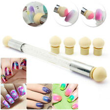 Nail Art Sponge Brush Pen Kit Rhinestone Handle Pro Stamping Transfer Tools