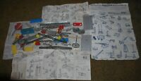 Vintage Erector Set Mixed Metal Pieces Lot W/ Instructions FREE US SHIPPING