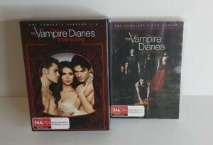 The Vampire Diaries Tv Series Lot Of 5 Seasons 1,2,3,4,5 Dvds