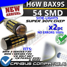 * X2 BAX9S H6W 54 SMD BMW F30 VW Sidelights error free canbus Bulbs Error Free