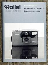 Caméra Mode D'emploi Rollei Prego AF user manual MODE D'EMPLOI (x8098