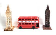 LONDON DIE CAST METAL  BUS SHARPNER,BIG BEN,LONDON BIDGE,PHONE BOX TOY