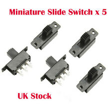 5 X Mini Miniatura On/On 6 Pin Interruptor Deslizante Interruptor DPDT