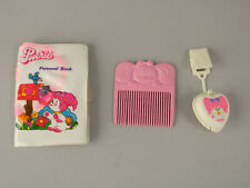 Vintage 1980s Mattel Poochie Dog Stamp Toy w/Clip, Comb & Personal Book Cute!