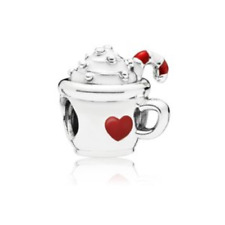 Authentic PANDORA Warm Cocoa Charm 925 Sterling Silver #797523ENMX