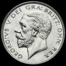 1933 George V Silver Half Crown, Scarce, Near EF