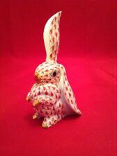 Herend Figur -  HASE - Fishnet Figurine - Porzellan - rot - 1. WAHL