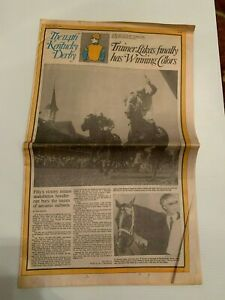 1988 Kentucky Derby Daily Racing Form & Courier Journal with Race Results