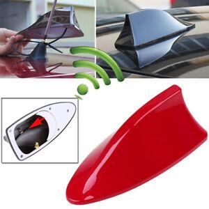 Red Shark Fin Style Car Roof Antenna Aerial FM/AM Radio Signal Auto Decor Kit