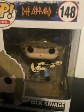 More details for rick savage  --  hand signed funko pop   --  def leppard  --  autographed