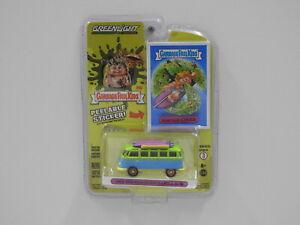 """1:64 1964 Volkswagen Samba Bus - Garbage Pail Kids """"Surf's Up Chuck"""" Greenlight"""
