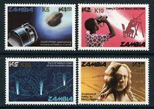 444/SPACE RAUMFAHRT 1987 Zambia Sambia Halley Komet Comet Aufdrucke 411//424 RAR