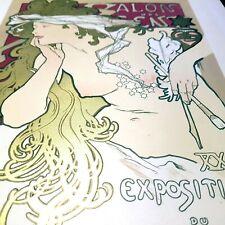 [ORIGINAL Lithograph -  Maitres Affiche - 1896]. Mucha, Salon des Cent