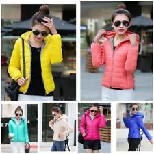 Stylish Women Wadded Jacket Overcoat Slim Parka Candy Color Winter Warm Top Coat