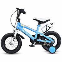 "12"" Freestyle Kids Bike Bicycle Children Boys & Girls w Training Wheels Blue"