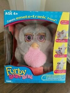 Rare 2005 Grey & Pink Furby Baby In Box with Instructions Sealed