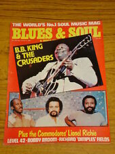 BLUES AND SOUL MUSIC MAG #339 1981 B.B KING CRUSADERS