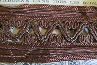 """Beautiful Long Length Antique French Bronzed Silky Trim 2"""" Wide x 15ft 8"""""""