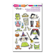 STAMPENDOUS RUBBER STAMPS CLEAR COSTUME STACK HALLOWEEN STAMP SET
