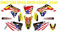 5140 SUZUKI RMZ 250 2010-2016 Autocollants Déco Graphic Sticker Decal Kit