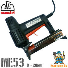 Maestri ME53 Professional Electric Staple Gun /  Tacker / Stapler / Bradder