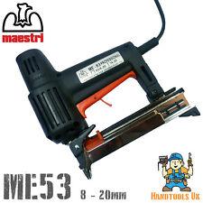 Maestri ME53 Professional Electric Staple Gun /  Tacker / Stapler / Bradder