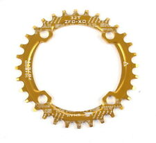 Bike Narrow Wide Oval Single Chainring Chain Ring Bcd 104mm 30 32 34 36T Gold