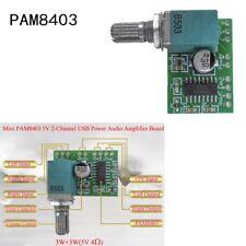 1Pc PAM8403 Mini 5V Power Audio Amplifier Board 2 Channel 3W+3 Volume Control