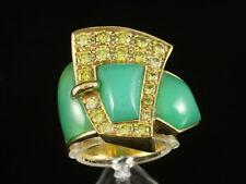 Angela Bräutigam Chrysopras Brillant Ring ca. 1,20ct    30,1g 750/- Gelbgold