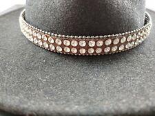 NEW Western Cowboy Cowgirl crystal RHINESTONE HATBAND adjustable hat band BLING
