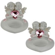 Collectable Peace of Heaven Cherub - Sweetheart Kisses Tea Light Candle Holder.