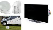 "Maxview VUQube 2 White & Avtex L248DRS 23.5"" Satellite DVD TV Caravan Motorhome"